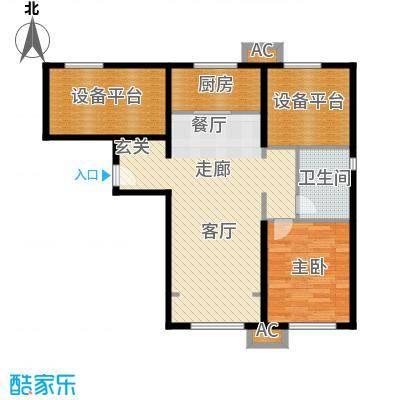 假日盈润园85.00㎡一期1号楼标准面积8500m户型
