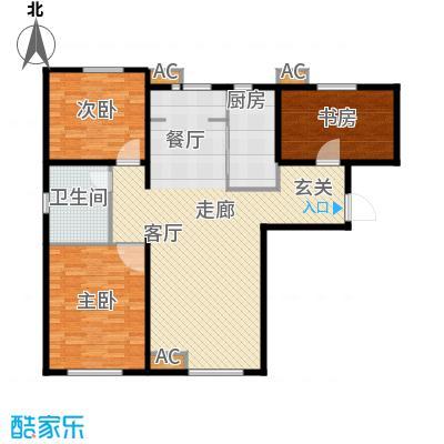 假日盈润园120.00㎡7号楼标准层A面积12000m户型