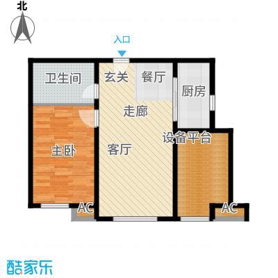假日盈润园65.00㎡一期1号楼标准面积6500m户型
