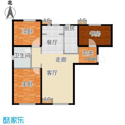 假日盈润园122.00㎡一期9号楼标准面积12200m户型