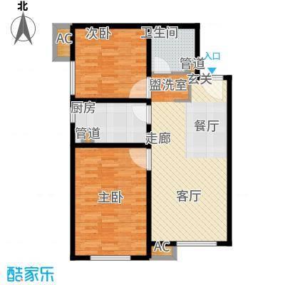 假日盈润园77.00㎡10#标准层C户面积7700m户型