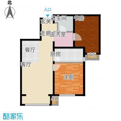 假日盈润园87.00㎡7号楼标准层B面积8700m户型