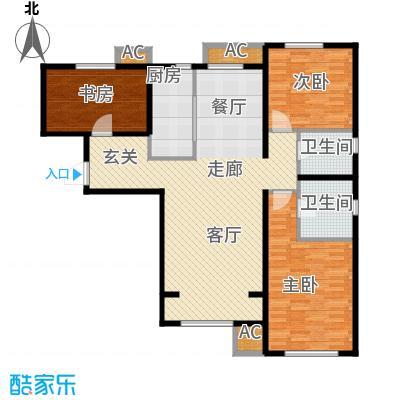 假日盈润园127.00㎡7号楼标准层C面积12700m户型