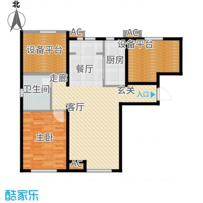假日盈润园98.00㎡一期1号楼标准面积9800m户型