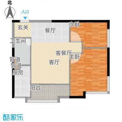 仁恒海河广场90.19㎡2号楼F1面积9019m户型