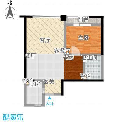 仁恒海河广场90.81㎡2号楼F3面积9081m户型