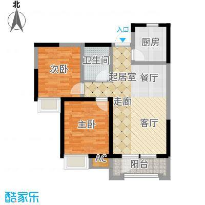 融科贻锦台90.00㎡19-21号楼标准面积9000m户型