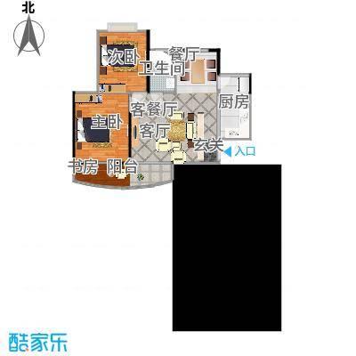 南昌澄湖90.00㎡C1户型2室2厅1卫