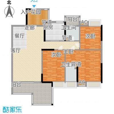 华夏津典泉水园174.00㎡3面积17400m户型