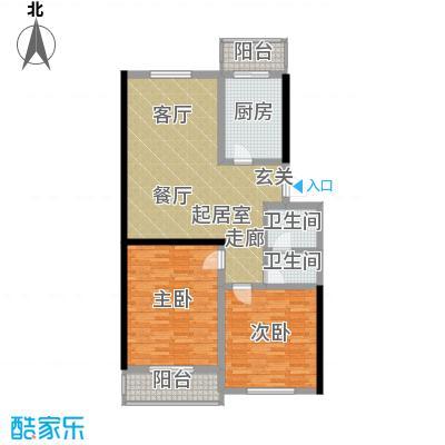 旭水蓝轩104.16㎡1面积10416m户型