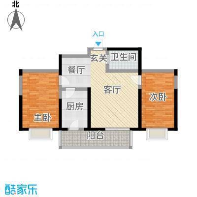 虹畔馨苑107.97㎡6/8号楼1门012面积10797m户型