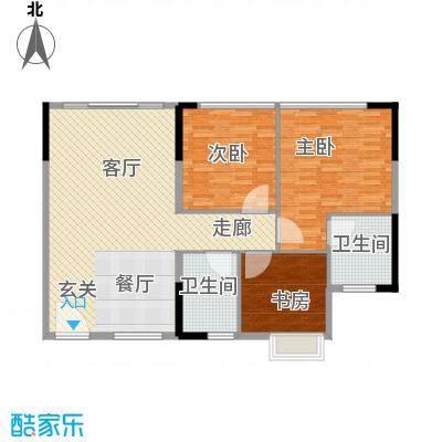 鑫苑都市家园118.00㎡面积11800m户型