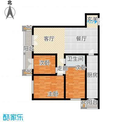 和平时光136.43㎡1、2号楼标准层面积13643m户型