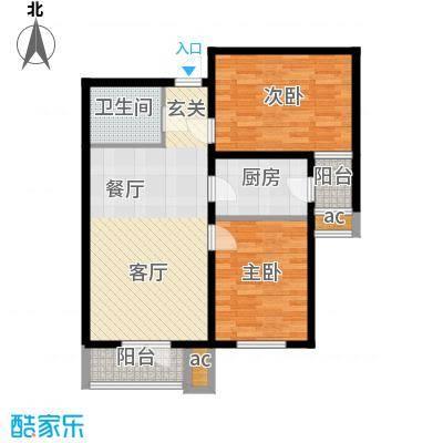 和平时光93.34㎡3号楼标准层M户面积9334m户型