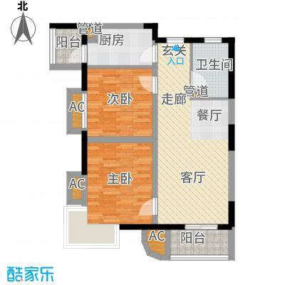 金厦水语花城81.67㎡一期1号楼标面积8167m户型