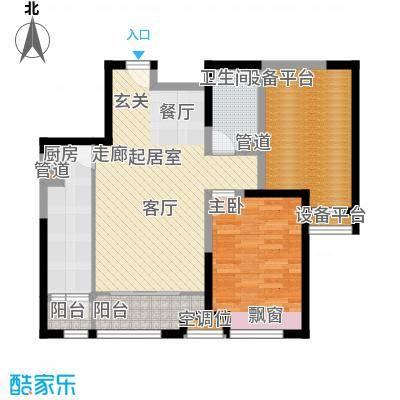瞰海尚府79.12㎡一期4号楼标准层面积7912m户型