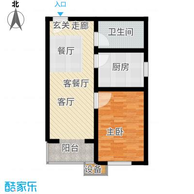 七里香格庄园61.91㎡洋房标准层D2户型