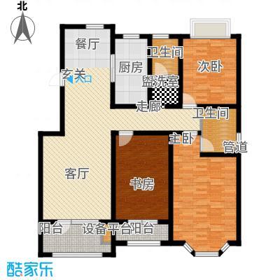 天房海滨园134.74㎡高层标准层F户型