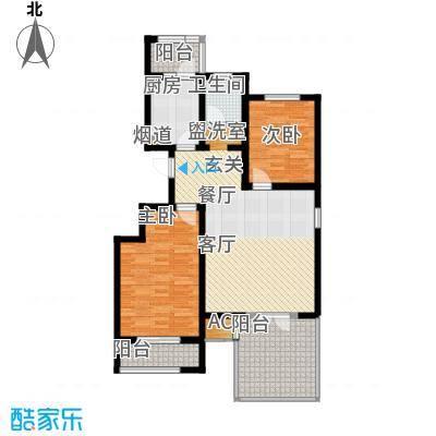 弘祥家园95.00㎡1、2、3#楼A单元2层2室户型
