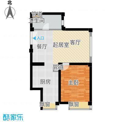 绿岛公寓89.05㎡高层标准层B户型