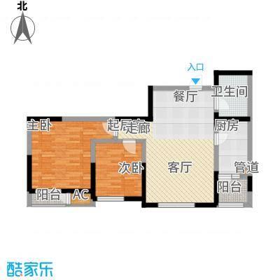 格调艺术领地92.00㎡高层1、2、3号楼标准层03户型