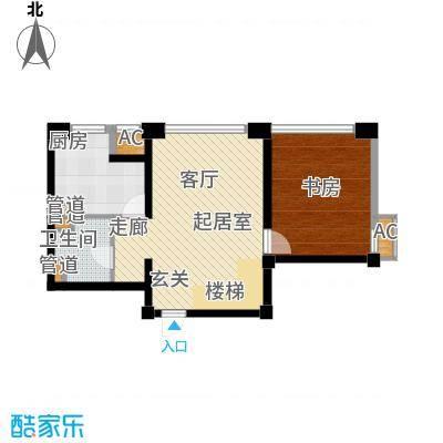 绿岛公寓81.02㎡高层标准层A户型
