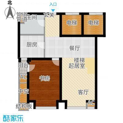 绿岛公寓97.00㎡高层标准层D户型