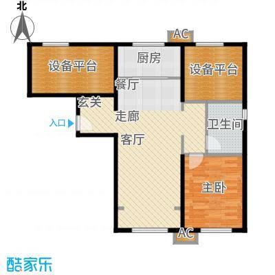 假日盈润园80.00㎡一期1号楼标准面积8000m户型