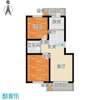 翰林雅苑88.35㎡多层标准层A1户型