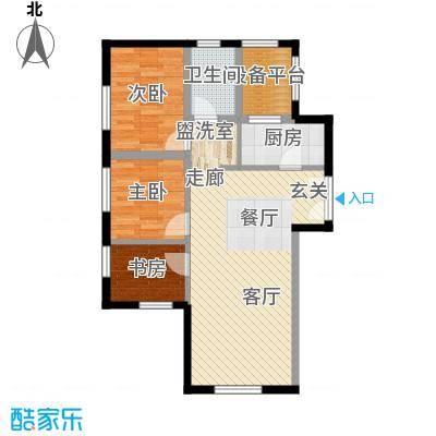 东北角艺术公寓107.49㎡一期1、2、3#楼2-32层K户型