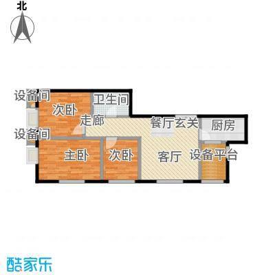 东北角艺术公寓102.21㎡一期1、2、3#楼2-32层A户型