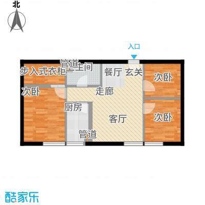 东北角艺术公寓95.96㎡一期1、2、3#楼2-32层J户型