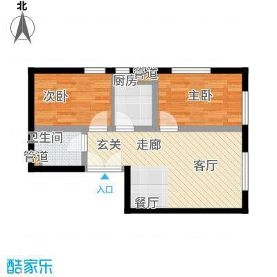 东北角艺术公寓77.10㎡一期1、2、3#楼2-32层H户型