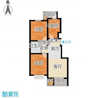 峰尚花园88.20㎡小高层标准层A户型