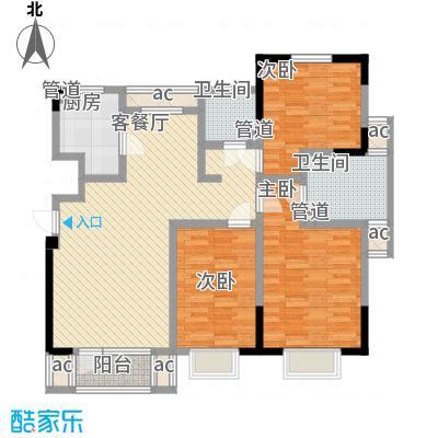 福源九方116.00㎡洋房标准层C3户型