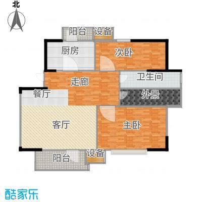 福源九方95.00㎡洋房标准层B1户型