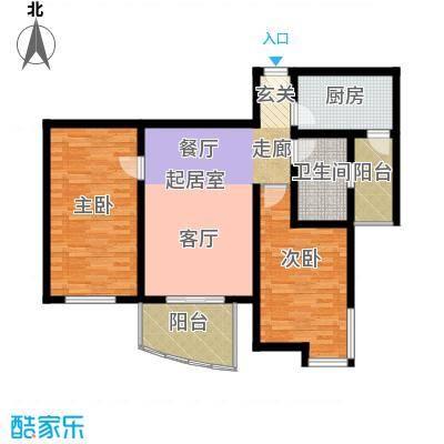 宝龙湾家园96.00㎡I房型面积9600m户型