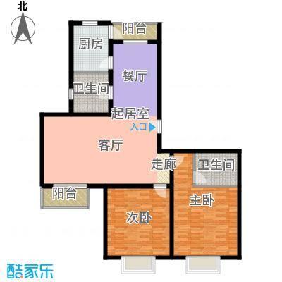 宝龙湾家园123.00㎡D房型面积12300m户型