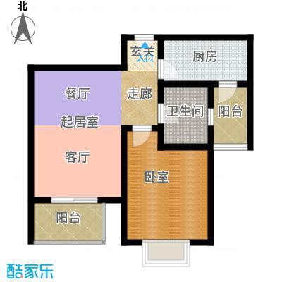宝龙湾家园70.00㎡B房型面积7000m户型