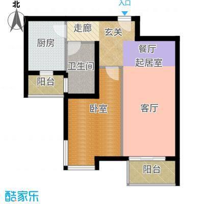 宝龙湾家园69.00㎡G房型面积6900m户型