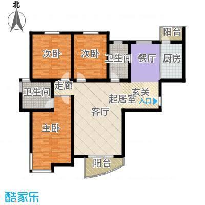 宝龙湾家园150.36㎡F面积15036m户型