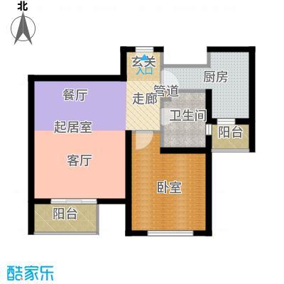 宝龙湾家园75.64㎡L面积7564m户型