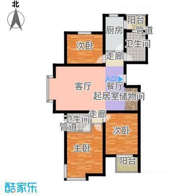 宝龙湾家园128.90㎡C面积12890m户型