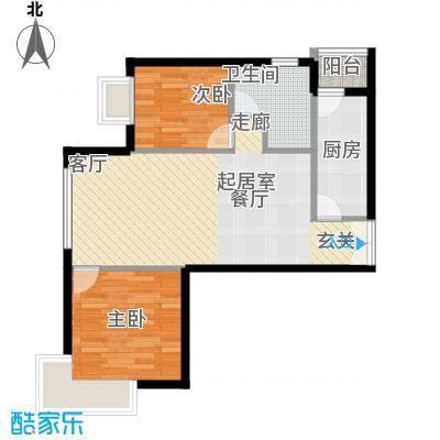 天津富力湾89.00㎡一期1号楼标准面积8900m户型