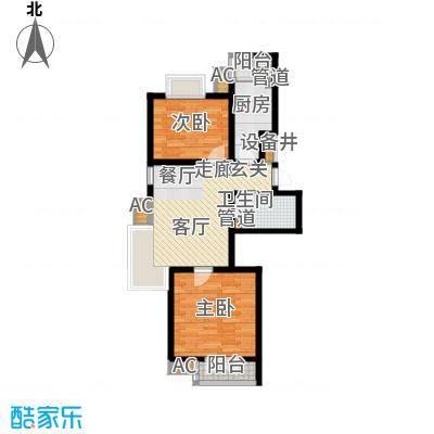 长瀛御龙湾89.33㎡龙庭50-60#楼面积8933m户型