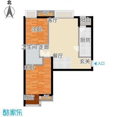 天津湾海景雅苑88.71㎡5号楼标准面积8871m户型