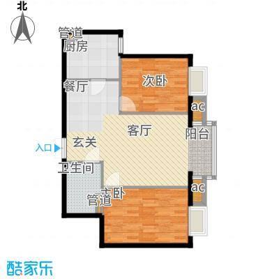 天津湾海景雅苑91.64㎡一期6号楼面积9164m户型
