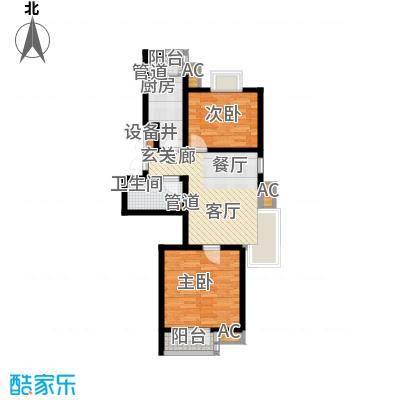 长瀛御龙湾89.33㎡龙庭56-60#楼面积8933m户型