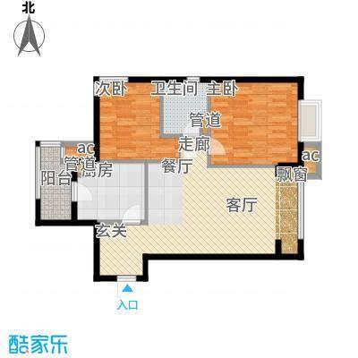 天津湾海景雅苑90.20㎡一期6号楼面积9020m户型
