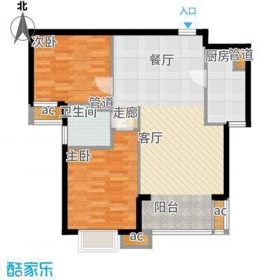 天津湾海景雅苑92.81㎡高层标准面积9281m户型